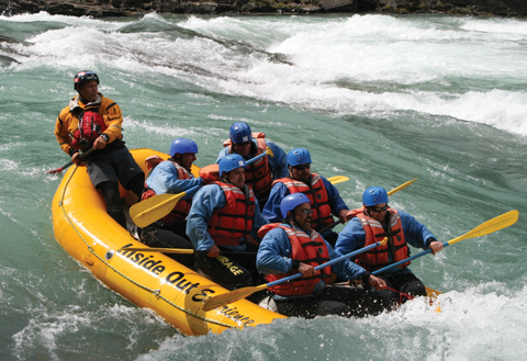 "The Canadian Veteran Adventure Foundation helps soldiers ""reclaim their lust for life."" Here, participants navigate the Kananaskis River."