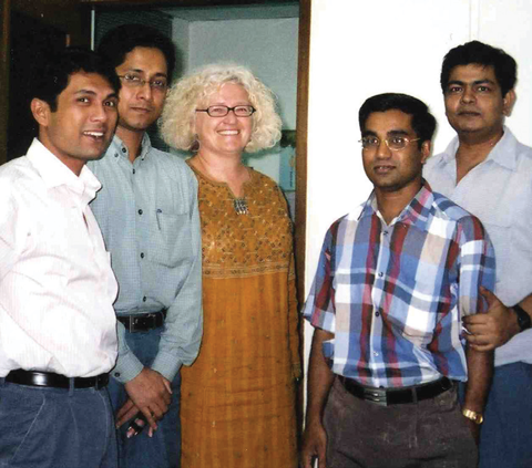 Linda Duncan with Bangladeshi colleagues
