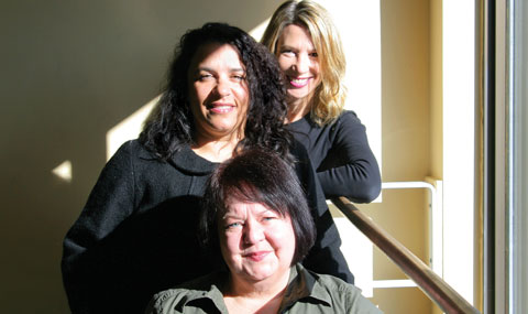 The founders of Decidedly Jazz Danceworks: Vicki Adams Willis, Michele Moss and Hannah Stilwell