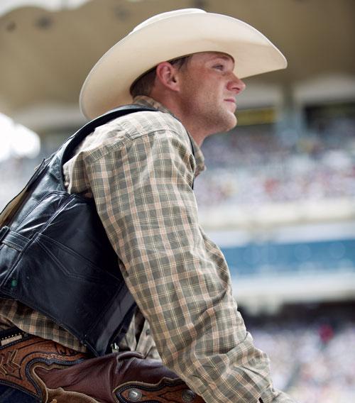 Rodeo cowboy, Calgary Stampede, 2008.