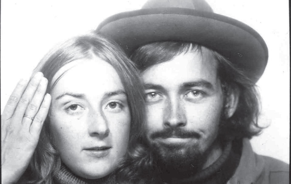 Katherine and her husband, enroute to Woodstock—two years late.